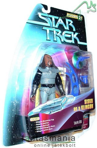 Star Trek Sisko Klingon tv mozi figura Playmates