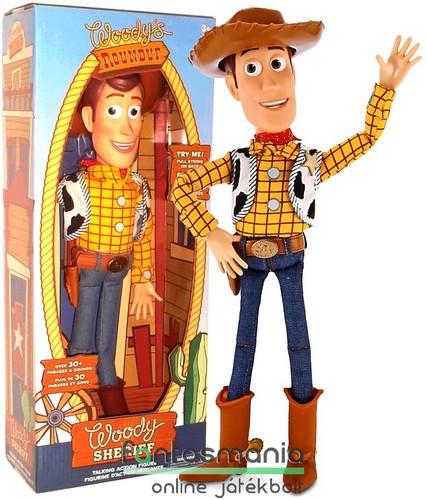 40 cm-es Toy Story - beszélő Woody   Vudi Sheriff figura kalappal ... 333acdc0775