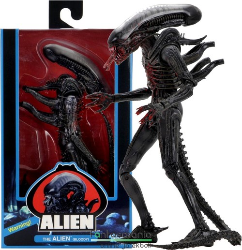 18-23cm-es Alien figura - NECA Big Chap Xenomph Alien Bloody Version - Aliens Series 40th Annviersary Wave 2 extra-mozgatható gyűjtői mozi figura - Készleten!