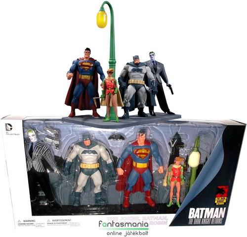 18cmes Dark Knight Returns figura szett Batman Superman Joker és Robin  figurákkal és összeállítható talapzattal - 6e4db397fe