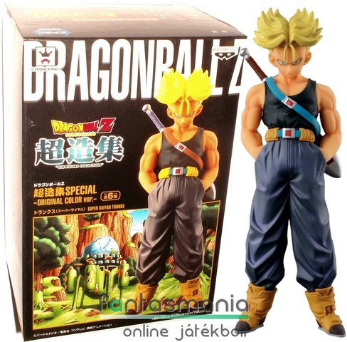 16cm-es Dragon Ball Z / Dragonball figura - SSJ Trunks Resurrection F - szobor figura - Banpresto Chouzoushu Special Original Color Ver figura