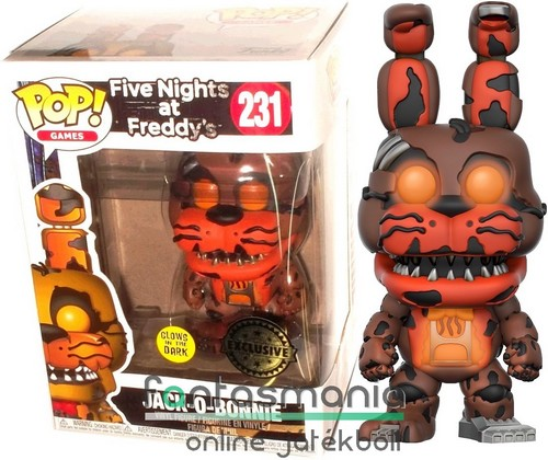 10cmes Funko POP figura FNAF Jack-O-Bonnie Five Nights at Freddy's Boni nyuszi karikatúra figura