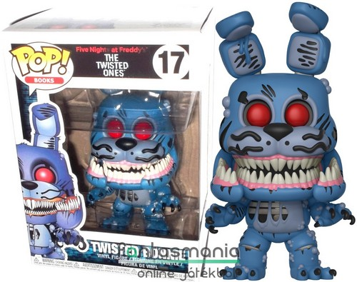 10cmes Funko POP figura FNAF Twisted Bonnie Five Nights at Freddy's Twisted Ones nightmare-szerű szörny Boni nyuszi nagyfejű karikatúra figura