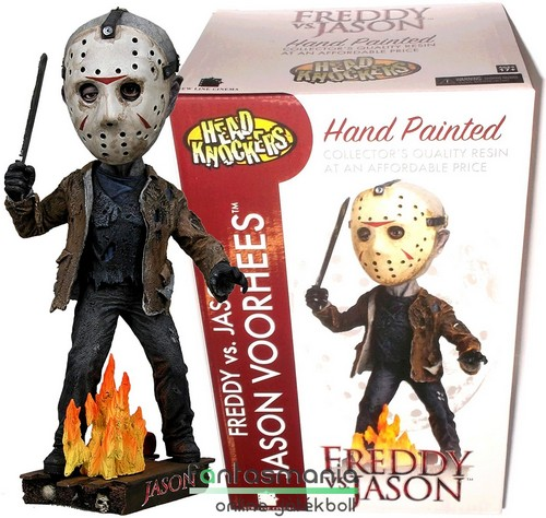 18cm-es NECA Péntek 13 Jason Vorhees szobor figura - Head Knocker Friday the 13th prémium bólogató szobor talapzattal