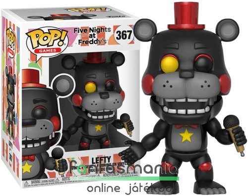 10cmes Funko POP figura FNAF Lefty fekete maci Five Nights at Freddy's Pizzeria Simulator / Ultimate Custom Night karikatúra figura