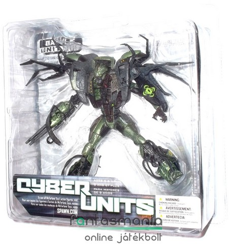 Spawn figura - Battle Unit - McFarlane Cyber Units kiborg robot figura