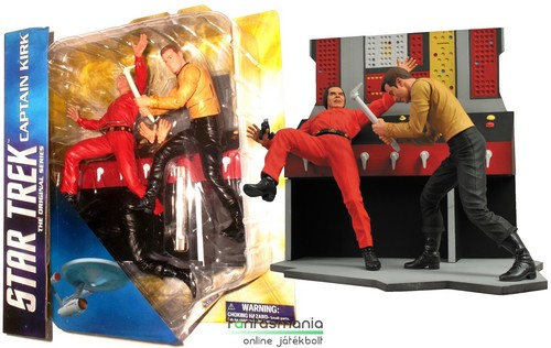 18cmes Star Trek figura - Captian Kirk vs Khan - TOS The Original Series Diamond Select átépíthető diroama szett