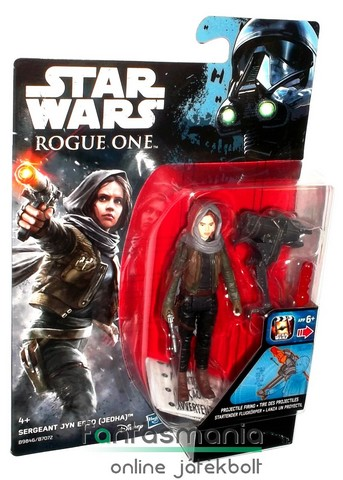Star Wars figura - Star Wars figura - Jyn Erso - Rogue One / Zsivány Egyes széria, Jedha fejkendős új S2 megjelenés - 5 ponton mozgatható figura fegyverrel