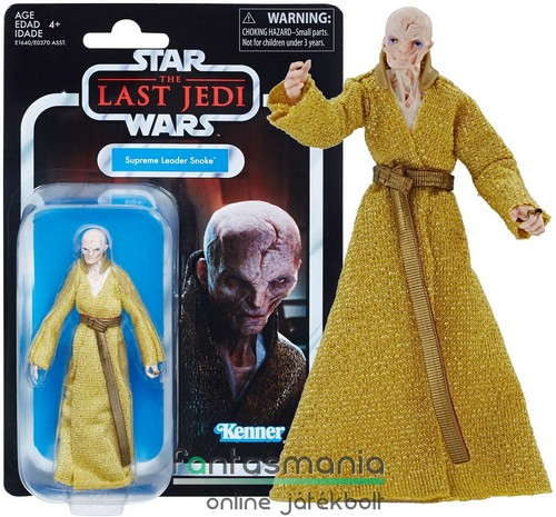 Star Wars figura Black Series - 10cm Supreme Leader Snoke figura - 2018 Vintage Collection gyűjtői kidolgozású figura extra-mozgatható végtagokkal