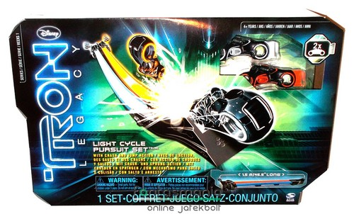 Tron figura - Light Cycle Pursuit 1,5m-es motor verseny pálya 2db mini motorral