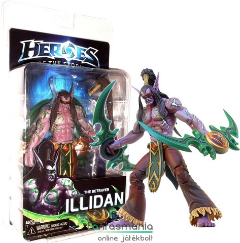 Blizzard World of Warcraft Illidan / Ilidan figura - NECA Heroes of the Storm széria, extra mogzatható végtagokkal