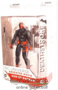 Batman figura - 18cm-es Deathstroke figura 2db karddal - Son of Batman széria - Teen Titals / Justice League / Batman ellenség - DC Direct / Entertainment