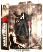 Sin City figura - Diamond Select Hartigan / Bruce Willis 18cm-es figura talapzattal és extra-mozgatható végtagokkal - Gyűjtői képregény / mozi figura