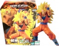 15-16cm Dragon Ball Super / Dragonball Z figura - Son Goku / Songoku Super Saiyan 3 hosszú sárga hajjal - Chosenshiretrsuden Banpresto gyűjtői szobor figura