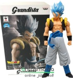 28cm-es Dragon Ball Super / Dragonball Z figura - Gogeta SSJ God Blue óriás szobor - Grandista Banpresto Resolution of Soldiers Dragonball Super figura