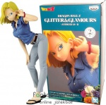 25cm-es Dragon Ball figura - Android 18 - Dragonball Glitter and Glamours Banpresto Sexy Anime figura