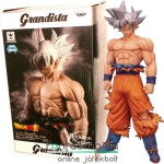 28cm-es Dragon Ball Z figura - Goku / Songoku Ultra Instinct óriás szobor figura - Limited Overseas Color Edition - Banpresto Grandista Resolution of Soldiers Dragonball Super figura - Utolsó darab!