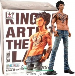26cm-es One Piece figura Trafalgar Law Surgeon of Death - King of Artist - Banpresto gyűjtői PVC szobor figura