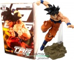 16-18cm-es Dragon Ball Z / Dragonball figura - Tag Fighters Song Goku szobor figura fekete hajú ugró pózos-talapzatos Banpresto Dragon Ball Super figura