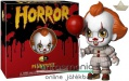 10cmes Funko POP Horror 5 Star - cuki IT Pennywise bohóc figura - Stephen King Az / It Krajcáros nyitható díszcsomagolásos nagyfejű karikatúra figura kishajóval