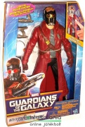 30cmes Galaxis Őrzői  - Starlord / Űrlord figura hangeffekttel, fegyverekkel és mini walkmannel - Guardians of the Galaxy Marvel szuperhős figura