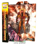 18cm-es Marvel Select Zombie Sabertooth / Kardfog X-Men zombi figura - Marvel Zombies Select figura