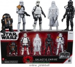 10 cm-es 5db-os Star Wars figura szett - Celebrate the Saga Galactic Empire - TIE Fighter Pilot, Snowtrooper, Stormtrooper Squad Leader, Scout Trooper R2-Q5 droid figura - Készleten!