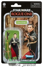 Star Wars figura Black Series - 10cm Chirrut Imwe - 2018-2020 Vintage Collection Exclusive gyűjtői kidolgozású Rogue One figura extra-mozgatható végtagokkal