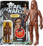 Star Wars figura Retro Collection 2019 - 10cm Chewbacca figura bowcasterrel Vintage Kenner hivatalos újrakiadás Episode IV New Hope klasszikus csomagolásban