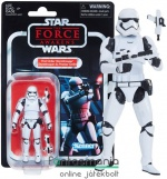 Star Wars figura Black Series - 10cm Fist Order Stormtrooper / Rohamosztagos figura - 2018 Vintage Collection gyűjtői kidolgozású figura extra-mozgatható végtagokkal