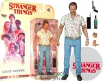16-18cmes Stranger Things figura - Chief Hopper Sheriff mozgatható figura Season 3 megjelenés fegyverrel és kiegészítőkkel - McFarlane Color Tops