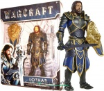 16cm-es World of Warcraft figura - Lothar Alliance Lovag figura pallossal, pajzzsal és mozgatható végtagokkal - World of Warcraft / WOW mozi széria