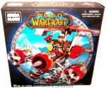 World of Warcraft - Gnome Flying Machine J�rm� + Minifigura - 90 elemes LEGO t�p. Mega Bloks �p�t�j�t�k