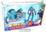 X-Men figura - K�klopsz / Cyclops motorral - Marvel Legends